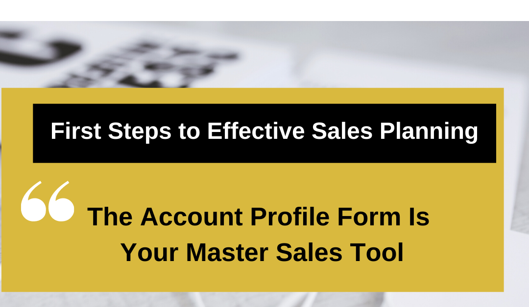 First Steps to Effective Sales Planning